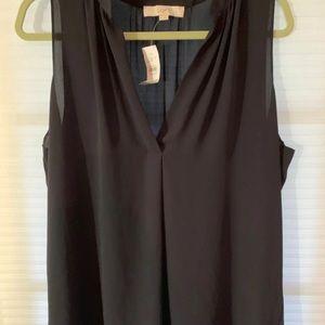 Women's Sleeveless Top xl  from Loft navy blue xl